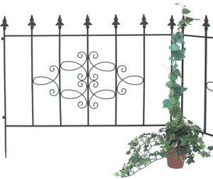 Steckzaun Perugia 20689 Rankhilfe Gitter aus Metall B-75 cm Kletterhilfe Zaun