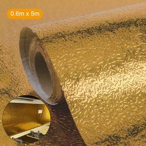 Kitchen Backsplash Wallpaper Aufkleber ?lsicher Wasserdichte Aluminiumfolie Selbstklebende hitzebest?ndige Papieraufkleber fš¹r Shelf Liner Countertop Drawer