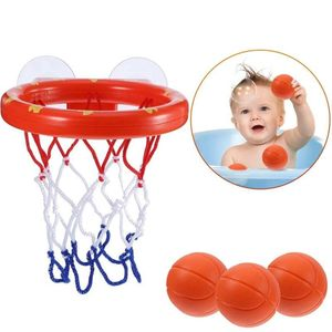 Kleinkind Badespielzeug Badewanne Basketballkorb Bälle Set für Kinder mit Starkem Saugnapf