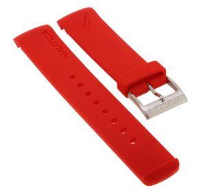 Nautica Uhrenarmband   Silikon in rot mit Dornschließe   NAI13502G
