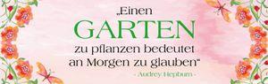 Audrey Hepburn Fototapete Poster-Tapete - Einen Garten Zu Pflanzen Bedeutet An Morgen Zu Glauben, 1-Teilig (79 x 250 cm)