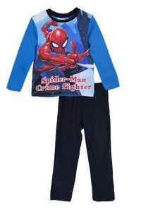 Spider-Man Kinder Schlafanzug mit Motiv, 2-teilig, blau-marine, Größe:128