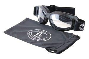 PiWear Motorrad Brille mit Band - Black Hills 24DCL, schwarz, selbsttönend, auch für Brillenträger, Anti-Beschlag