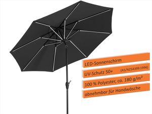 Schneider Sonnenschirm Blacklight 270/8 anthrazit 790-15