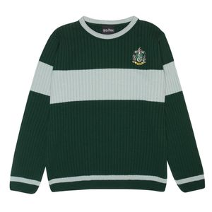 Harry Potter - Slytherin Pullover für Herren PG806 (XS) (Grün/Grau meliert)