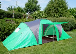 Campingzelt Loksa, 6-Mann Zelt Kuppelzelt Igluzelt Festival-Zelt, 6 Personen  grün