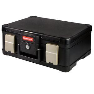 HMF 250418 Feuerfeste Dokumentenkassette DIN A4 Honeywell, 40,7 x 32 x 16,6 cm, schwarz