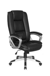 HOMEXPERTS Chefsessel DARYL-XXL, Drehstuhl mit gepolsterten Armlehnen und Wippmechanik, Schreibtischstuhl bis 150 kg belastbar