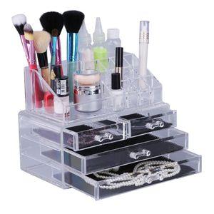 4-lagige Acryl Make-up Pinsel Ständer Box Lippenstifthalter Pinselhalter Kosmetik Organizer kosmetisches Display Pinselständer Acryl Pinselständer