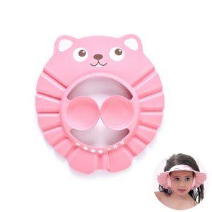1xNette Cartoon Baby Kinder Einstellbare Soft Shampoo Bad Dusche Cap (pink)