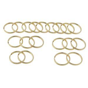 20er Pack Messing Schlüsselring für Schlüsselbund, Split Ring für Auto, Golden Schlüsselbund Runder Rand 12mm