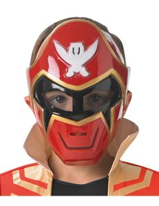 Power Rangers Super Megaforce Maske für Kinder rot