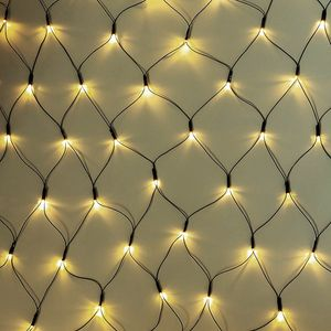 Lex Light LED Lichternetz für Außen 3x3m grünes Kabel 240 LEDs kaltweiß IP44