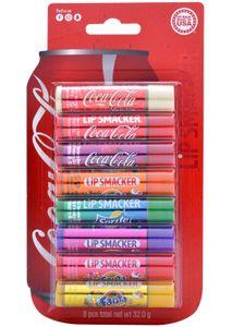 Coca Cola Party Packung - 8 Lippenpflegestift mit 8 verschiedenen Geschmacksrichtungen