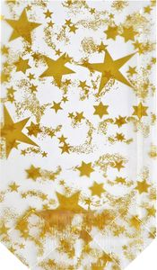 """Klarsichtbeutel """"Goldene Sterne"""" 11,5 x 19 cm"""