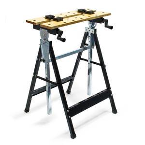 Werkbank 62,5x60,5x84,5-115,5cm Spanntisch Werktisch klappbar Werkstatt
