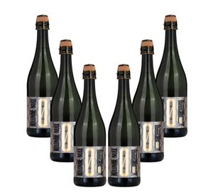 Kolonne Null - 6x 0% Alkohol - PRICKELNDER Riesling mit Korken - Alkoholfreier Riesling Prickelnd 0,75L- [Enthält Sulfite]