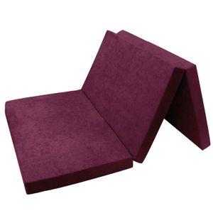 Klappmatratze Gästematratze 19. Violett XXL - 195x120x9cm W396 19 FORTISLINE