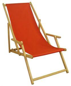 Liegestuhl terracotta Buche hell klappbar Sonnenliege Relaxliege Strandstuhl Klappstuhl 10-309 N