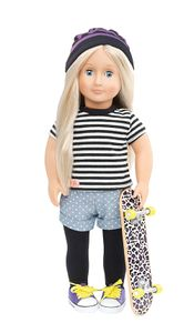Our Generation - Skateboard Girl Outfit für Puppe 46 cm