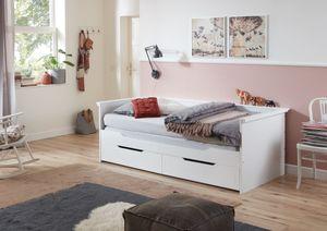 RELITA - Funktionsbett Lina 90x 200 auf 180 x 200 cm Liegefläche ausziehbar u. 2 Schubladen