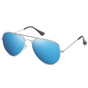 (Blau Silber)Sonnenbrille Herren Pilotenbrille Polarisiert Pilotenbrille Polarisierte Sonnenbrille Herren Outdoor Pilot Uni UV400 Fahren Sonnenbrille