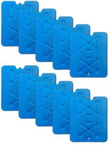 10er Pack XXL Kühlakkus je 800 ml wiederverwendbar | Bis zu 24h Kühlung | flach