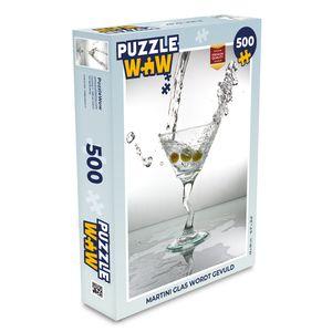 Puzzle 500 Teile - Martini-Glas wird gefüllt