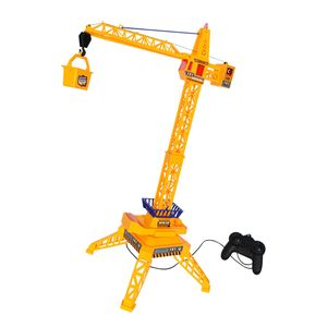 Gelb Ferngesteuert Baustellenkran Kabelgesteuerter Kran Baukran Spielzeug Geschenk für Kidner