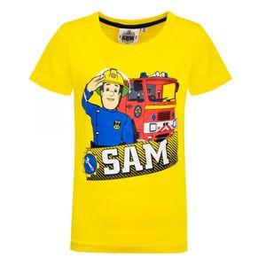 Disney Feuerwehrmann Sam Tshirt, gelb, Gr. 92-116 Größe - 104