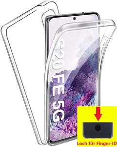 Full Cover Für Samsung Galaxy S20 FE S20FE 5G G780F Silikon TPU 360° Transparent Hülle