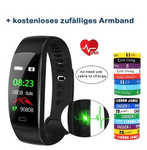 "Smartwatch Bluetooth Android iOS 0,96"" OLED Pulsmesser Sport Fitness Tracker Schwarz"