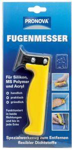 PRONOVA Fugenmesser für Silikon und Acryl gelb