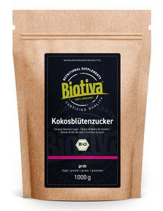 Biotiva Kokosblütenzucker 1000g aus biologischem Anbau