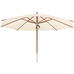 anndora Sonnenschirm 5m rund Marktschirm - Deluxe Edition - 5m rund | Natural