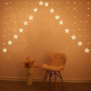 LED lichterketten lichternetze Lichterkette Weihnachten Sternenvorhang 16 Sterne Lichterschlauch Lichtschlauch