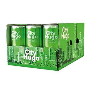 City Hugo Dose Holunderblüte und Limette Geschmack 200ml 12er Pack