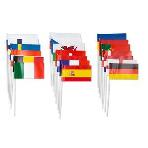 Papierfähnchen EM 2020/2021, 24 Stück