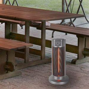 "Eurom Terrassenheizung ""Under Table Heater"" Silber 900 W 333589"