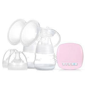YOUHA Doppelte elektrische Milchpumpe 2 Modi 9 Stufen Sicheres BPA-freies Stillen Schnullerflaschen-Saugmassagepumpen-Kit Leise und wiederaufladbar fuer die Arbeit zu Hause