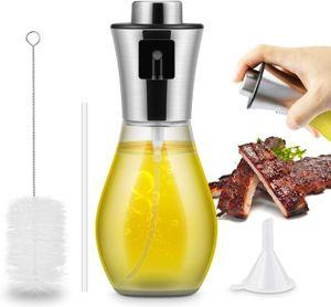 Öl Sprüher 200 ml Sprayer Olivenöl zum Kochen 3 in 1 nachfüllbare Öl- und Essigspender Flasche, Flaschenbürste und Öltrichter zum Grillen, Salat Machen, Kochen, Backen, Braten, Grillen