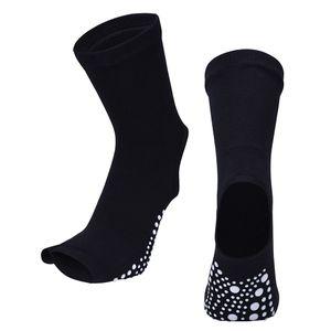 Yoga Socken Frauen Rutschfeste Griffe Pilates Fitness Ballett Übungssocke Schwarz 21cm Fingerlos Yoga-Socken Gel-Silikon