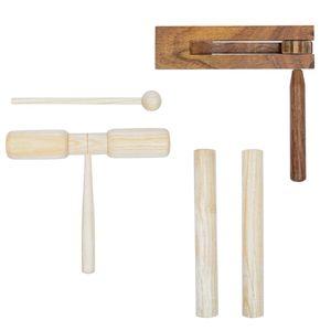 anlund 3-tlg. Schlagzeug-Set Holz