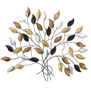 Wandobjekt aus Eisen, Baum, mehrfarbig, 107 cm, FAGUS