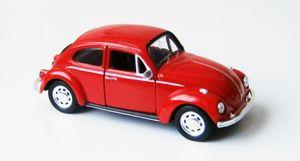 VOLKSWAGEN BEETLE 12cm Käfer Modellauto Modell Auto Spielzeugauto 64(Rot)
