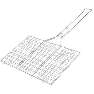 bremermann Grillgutwender rechteckig // Edelstahl mit langem Griff // ca. 34 x 56,3 cm Grillhalter