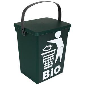 Mülleimer grün 5L Küche Abfalleimer klein Tischmülleimer Komposteimer Biotonne Tischabfalleimer Biomülleimer