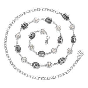Damen Wunderschöne Strass Perlen Körperkette Bauchkette Taillenkette Kettengürtel Dekoratives Kleidzusätze Ketten Schwarz