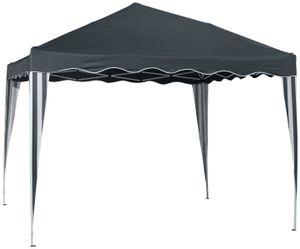 Countryside®  Faltpavillon dunkelgrau/weiß 3x3 m, mit UV-Schutz, inkl. Aufbewahrungstasche