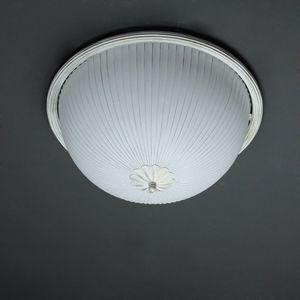 Antike Deckenlampe Weiß Gold Ø38cm Landhaus BARON